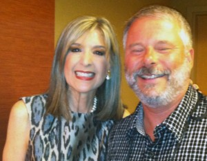 Mike with Hank Phillippi Ryan at ThrillerFest VII