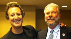 Mike with best-selling author Jon Land at ThrillerFest VII